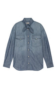Tie Neck Chambray <br> Med Chambray
