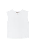 Sleeveless Babe Tee <br> White