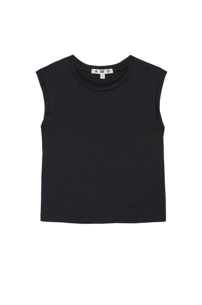 Sleeveless Babe Tee <br> Vintage Black