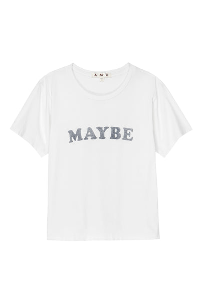 MAYBE Classic Tee <br> Vintage White