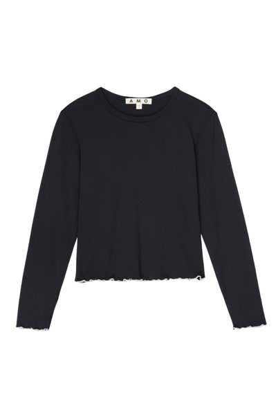 L/S Merrow Baby Tee <br> Vintage Black / Natural