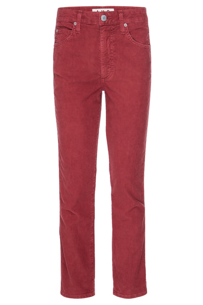 Chloe Crop <br> Washed Red Corduroy