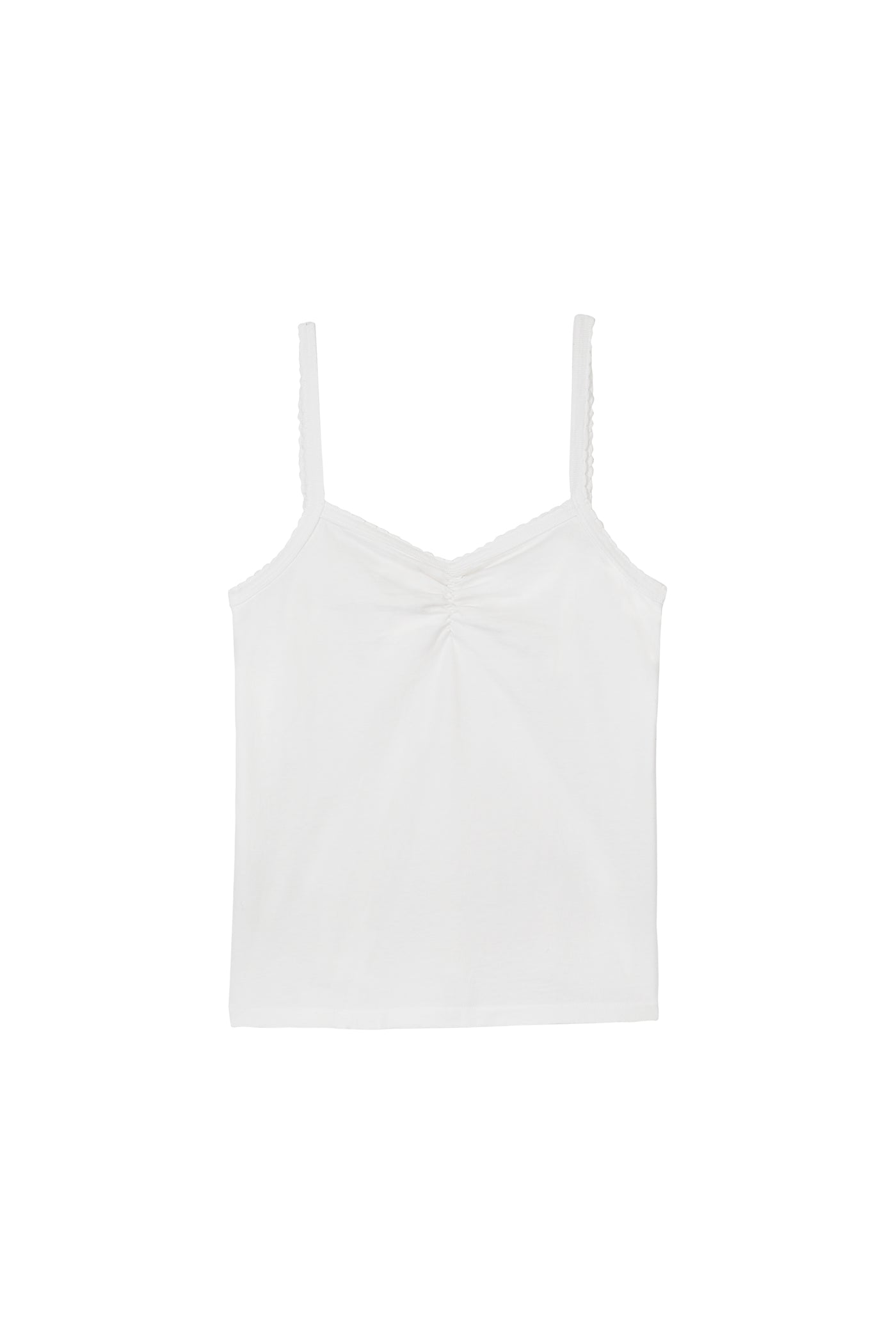 Scallop Knit Cami <br> White
