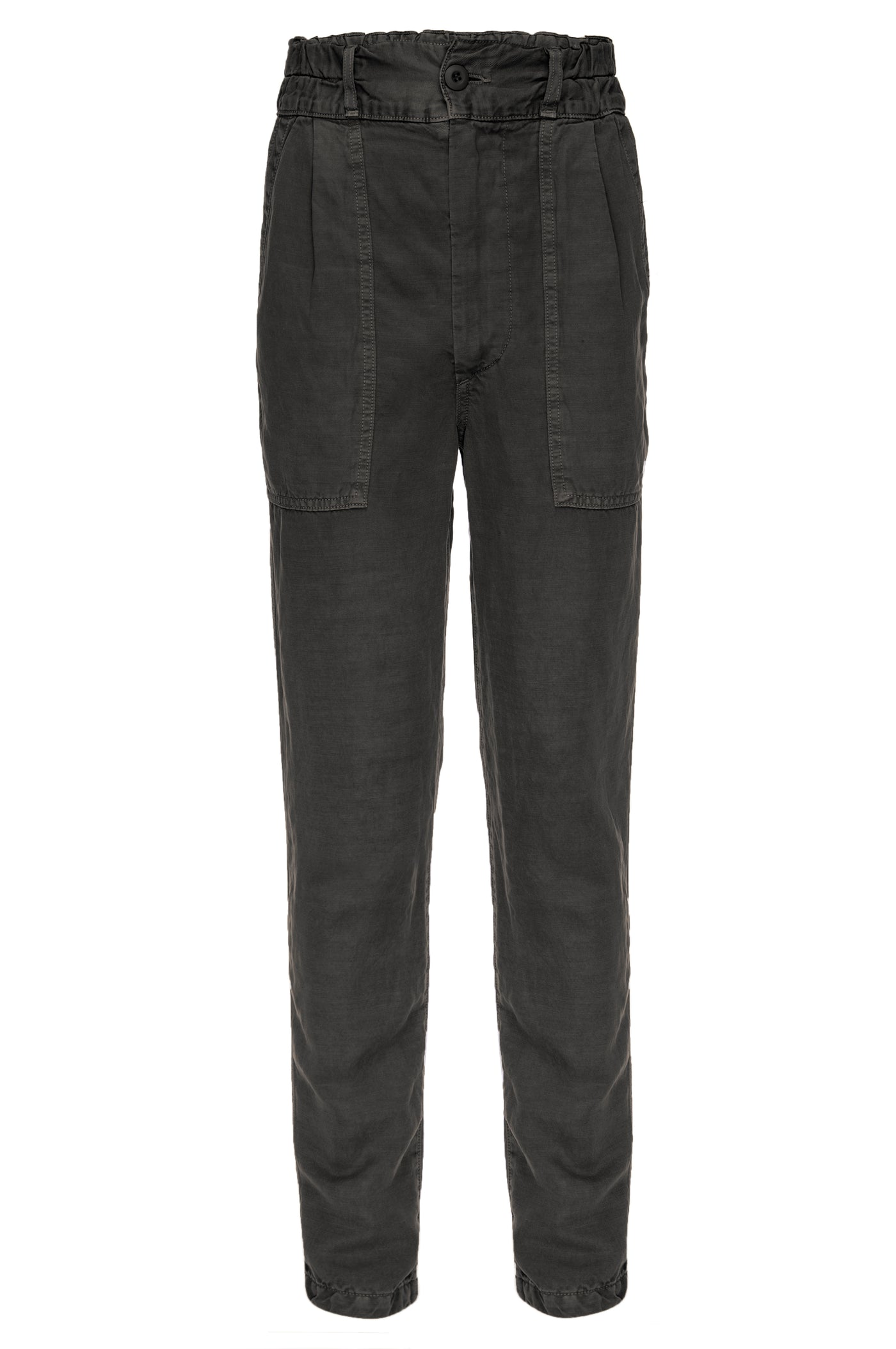 Drapey Army Pant <br> Washed Black