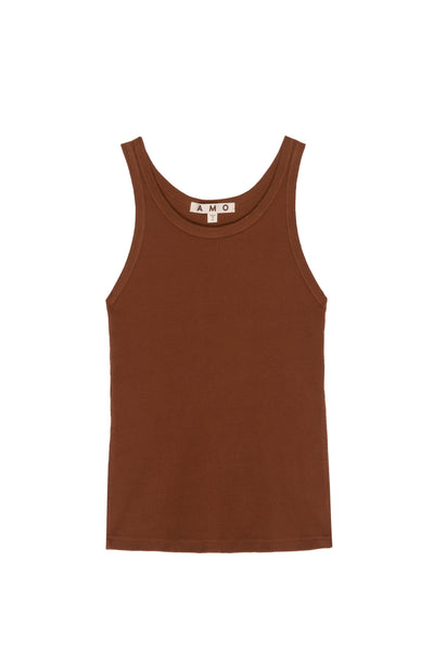 Long Rib Tank <br> Tobacco