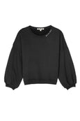 Easy Sweatshirt w/ Embroidery <br> Faded Black