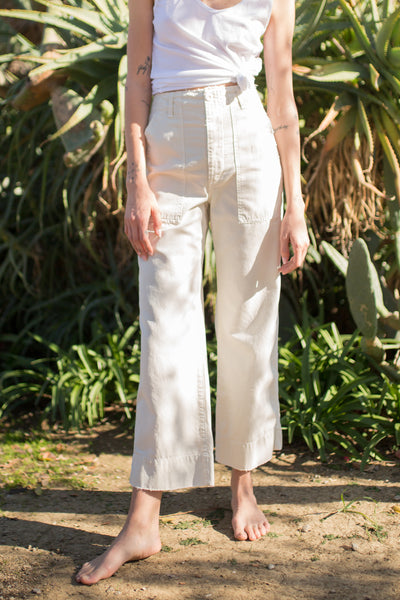 Sample Sale <br> Army Wide Leg <br> Vintage White <br> *Final Sale*