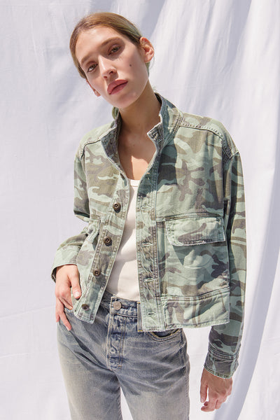Sample Sale <br> Army Patch Jacket <br> Spring Camo <br> *Final Sale*