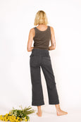Army Wide Leg <br> Washed Black