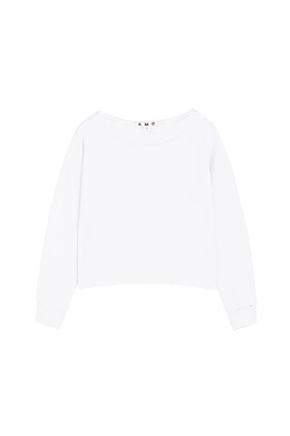 Boxy Sweatshirt <br> Vintage White with Destroy