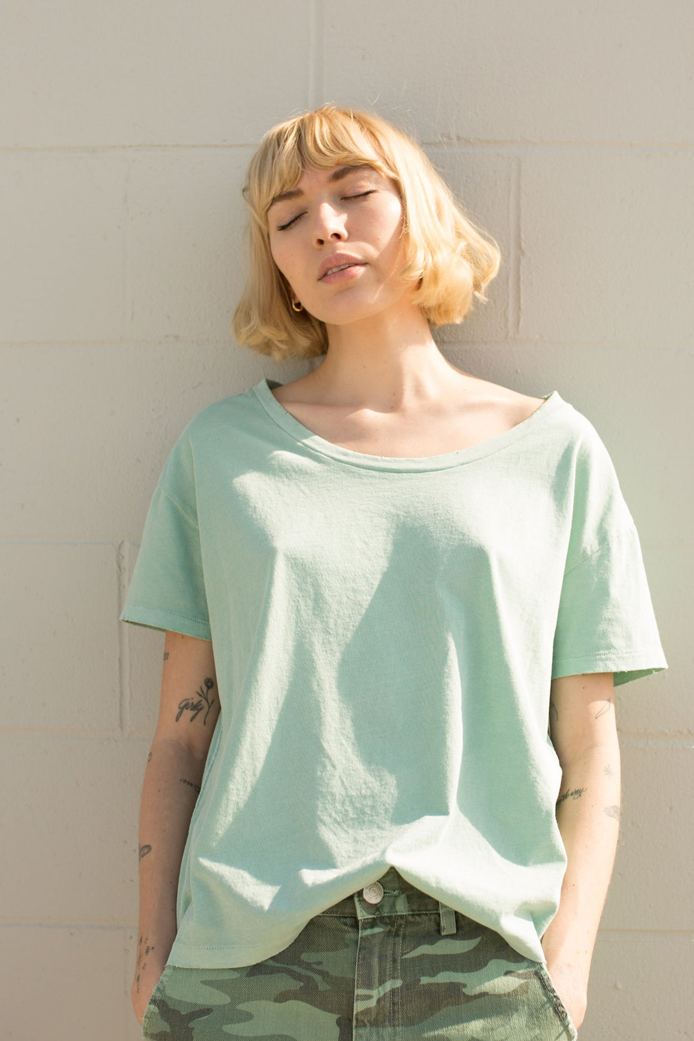 Boxy Tee <br> Agave