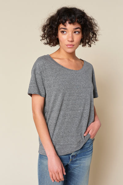 Boxy Tee <br> Heather Grey