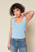 Crop Rib Tank <br> Pool Blue