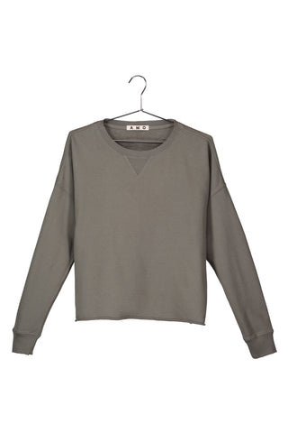 Cut-off Sweatshirt<br>Gray Green