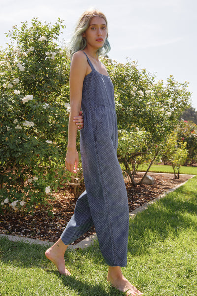 Sample Sale <br> Dot Jumpsuit <br> Indigo Dot <br> *Final Sale*