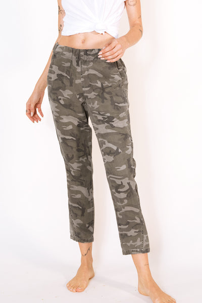 Sample Sale <br> Pull-on Slouch Trouser <br> Warm Grey Camo <br> *Final Sale*