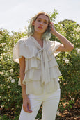 Rosa Ruffle Blouse <br> Vintage White <br> *Final Sale*
