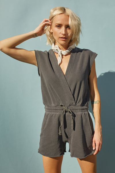 Shorty Jumpsuit <br> Faded Black <br> *Final Sale*