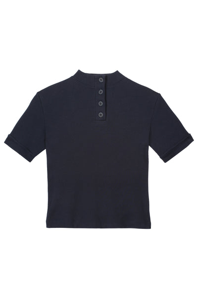 S/S Rib Top <br> Navy <br> *Final Sale*