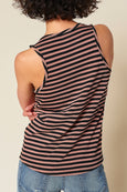 Sunday Tank <br> Faded Adobe Stripe <br> *Final Sale*