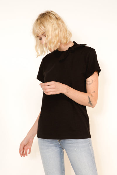 Sample Sale <br> Tie Tee <br> Black <br> *Final Sale*