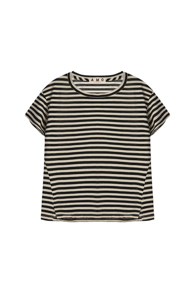 Sample Sale <br> Twist Tee <br> Seaton Stripe <br> *Final Sale*