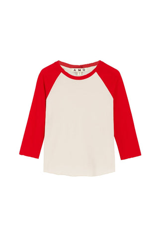 Catch The Fun Raglan Tee<br>Off White/Cherry