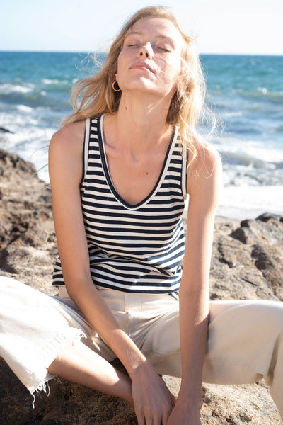 Sample Sale <br> Sunday Tank <br> Sailor Stripe <br> *Final Sale*