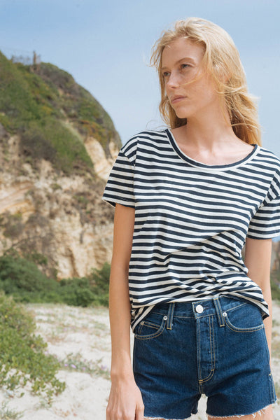 Sample Sale <br> Boxy Tee <br> Sailor Stripe <br> *Final Sale*