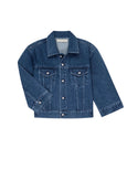 AMO x Donni <br> Denim Jacket w/ Pearl Buttons <br> Stonewash