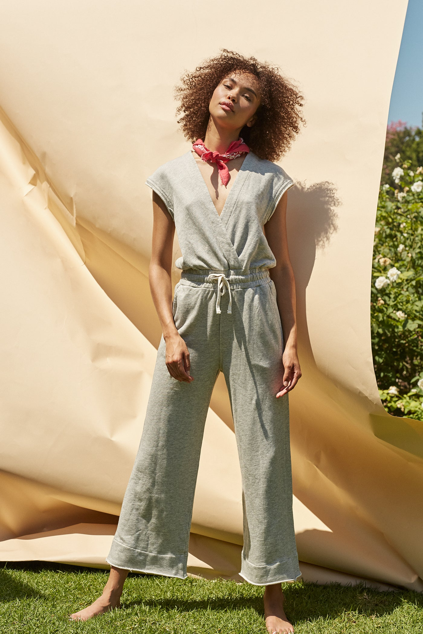 Farrah Jumpsuit <br> Heather Grey