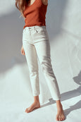 High Rise Stix Crop <br> Vintage White