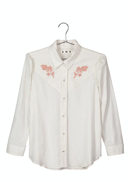 Georgia <br> Vintage White w/ Rose Embroidery <br> *Final Sale*