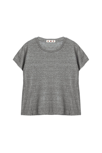 Twist Tee <br> Heather Grey