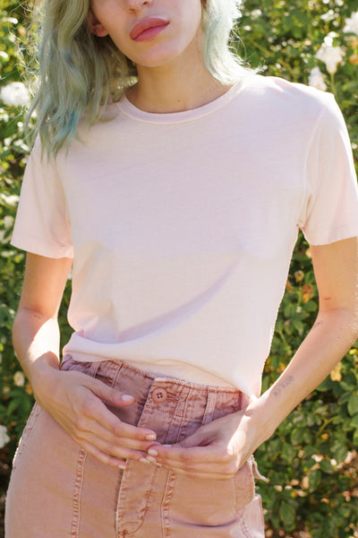 Classic Tee <br> Pale Pink <br> *Final Sale*