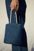 AMO x Donni <br> Denim & Pearl Bucket Bag <br> Stonewash