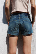 Classic Cut-offs <br> Blue Bottle with Destroy