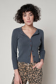 Rib Cardigan <br> Faded Black