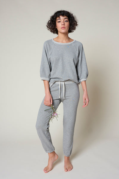 Cropped Sweatpant <br> Heather Grey <br> *Final Sale*