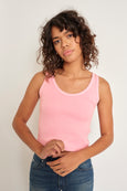 Crop Rib Tank <br> Flamingo