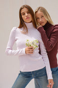 Puff Sleeve Turtle Neck <br> Lilac