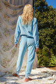 Velour Sweatpant <br> Sky