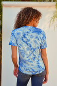 Scoop Neck Tee <br> Sky Tie Dye