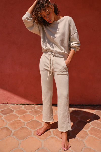 Straight Leg Sweatpant <br> Seaglass