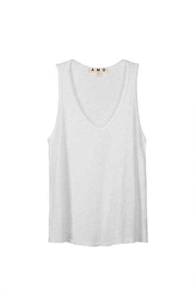 Sunday Tank <br> White Slub
