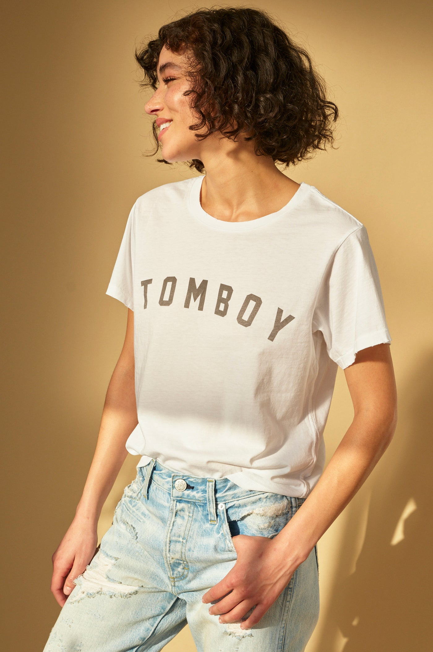 """TOMBOY"" Tee <br> Off White"