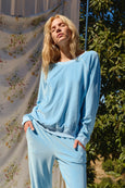 Velour Sweatshirt <br> Sky