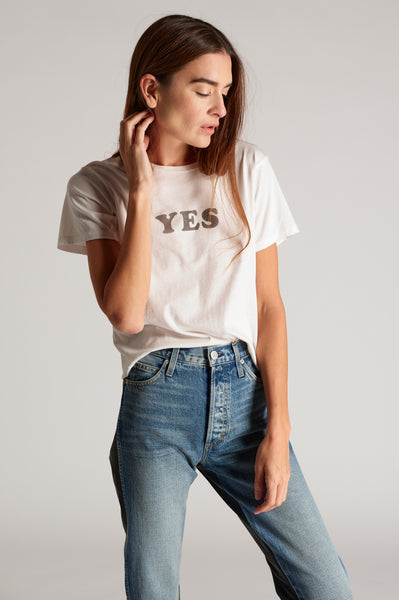 YES Classic Tee <br> Vintage White