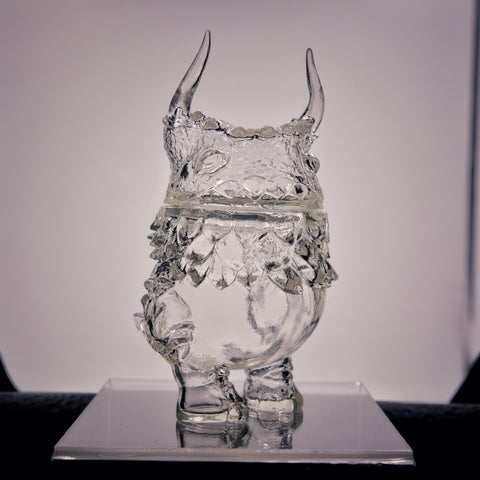 Clear Kaiju Pogola - Sofubi Toy by Kaiju Dan from Japan