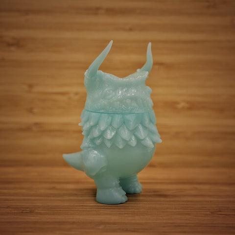 Glow-in-the-Dark Blue Kaiju Pogola - Sofubi Toy by Kaiju Dan from Japan